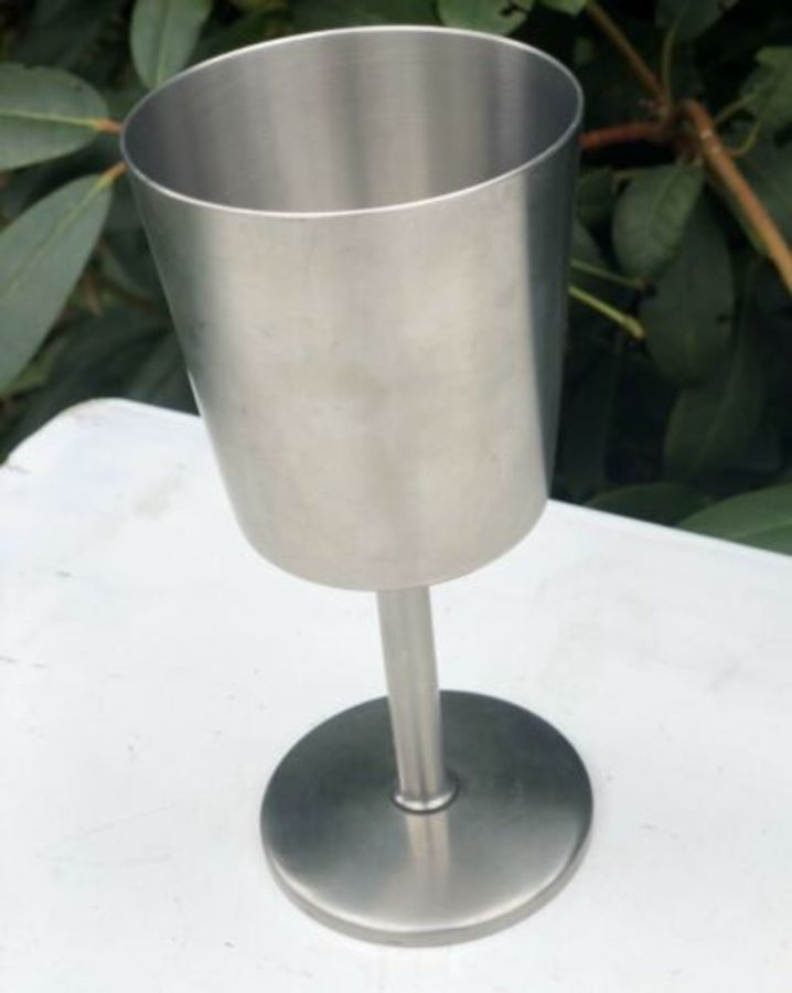 Stainless Steel Old Hall Tall Thin Chalice Glass Drinking Vessel Cup Goblet