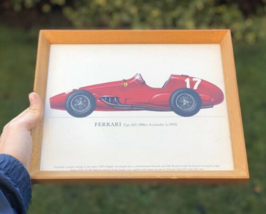 Ferrari Tipo 1950s Formula 2 Motor Racing Race Car Framed Print
