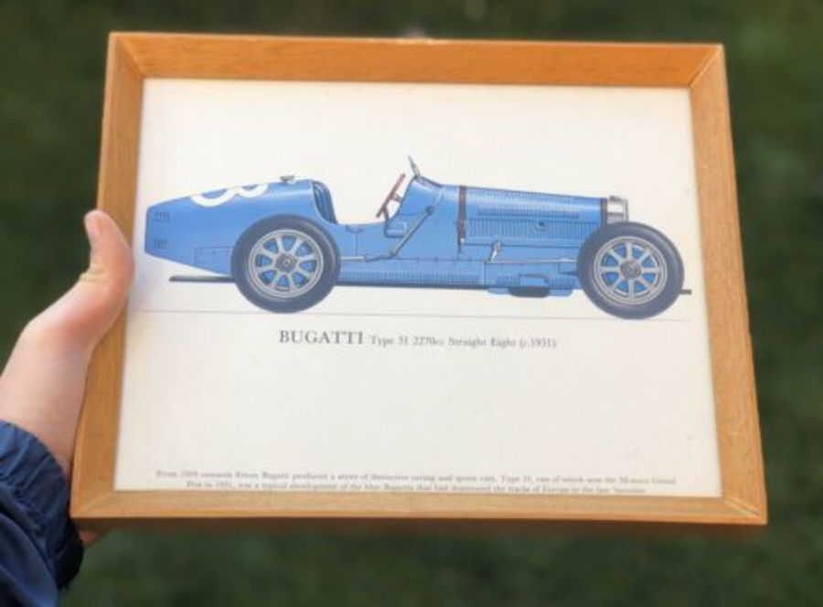 Bugatti Type 51 Straight Eight 1931 Race Racing Sports Car Framed Print
