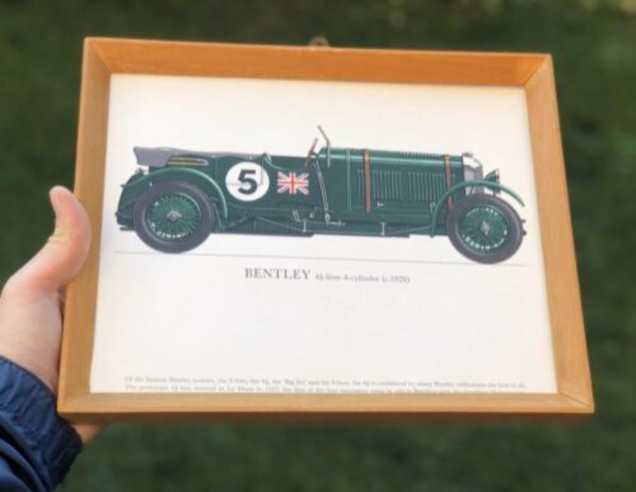 Bentley 4 1/2 Litre 1929 Race Racing Sports Car Framed Print