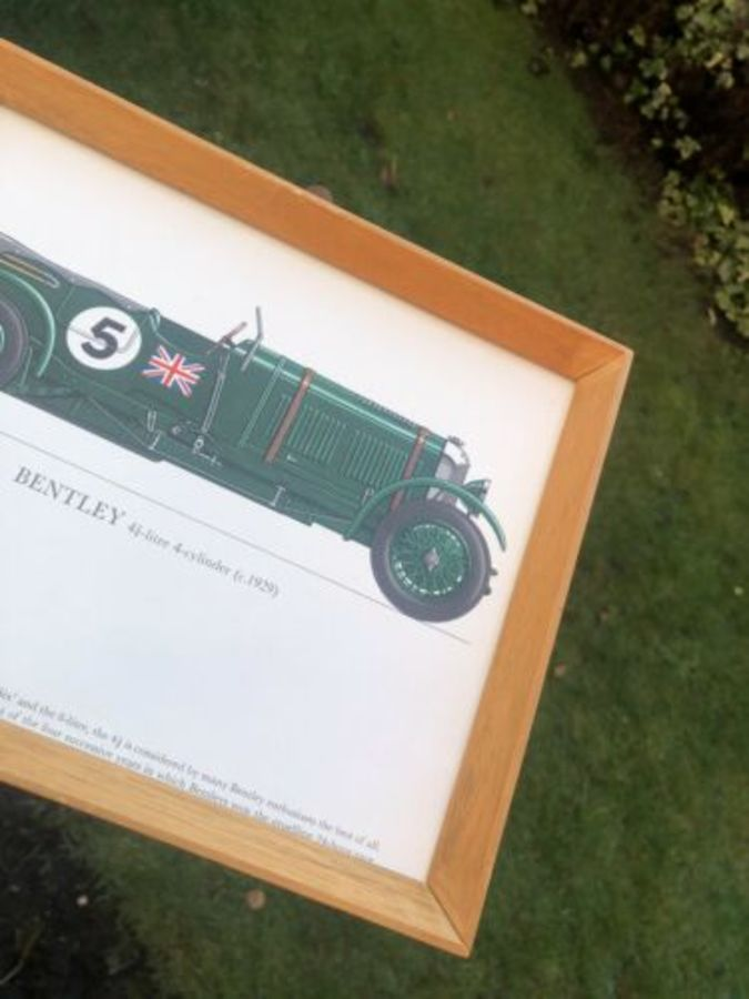 Antique Bentley 4 1/2 Litre 1929 Race Racing Sports Car Framed Print