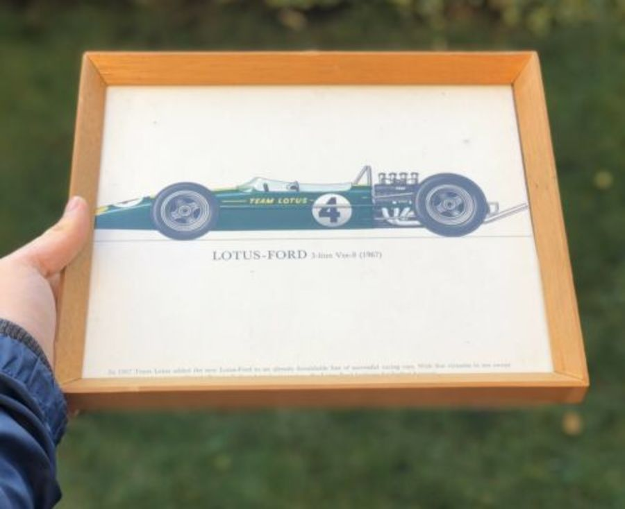 Lotus Ford 3 Litre 1967 Race Racing Sports Car Framed Print