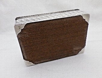 Antique Antique Solid Silver Cigarette Jewellery Box William Comyns 1895 (1082-9-VOW)