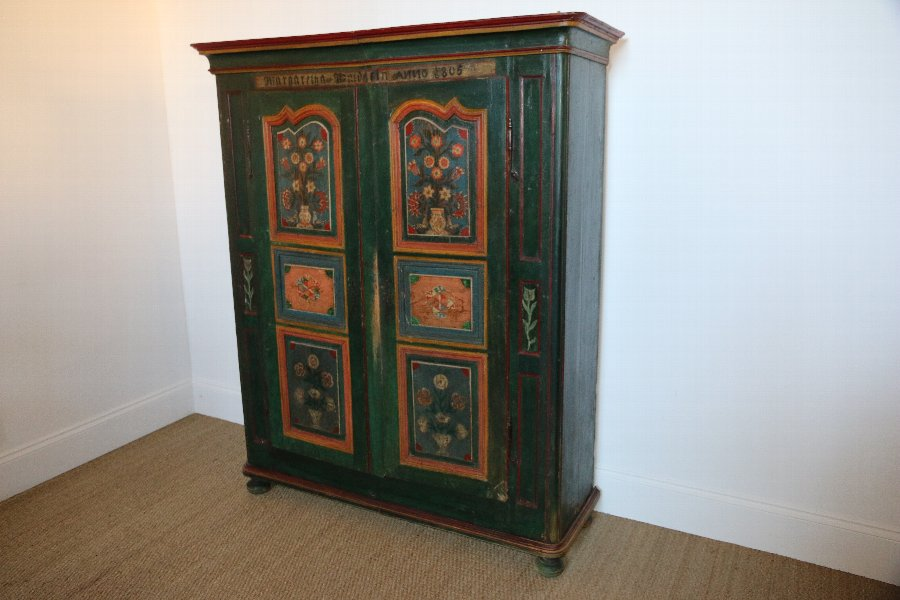 Original Hand Painted Armoire 1805