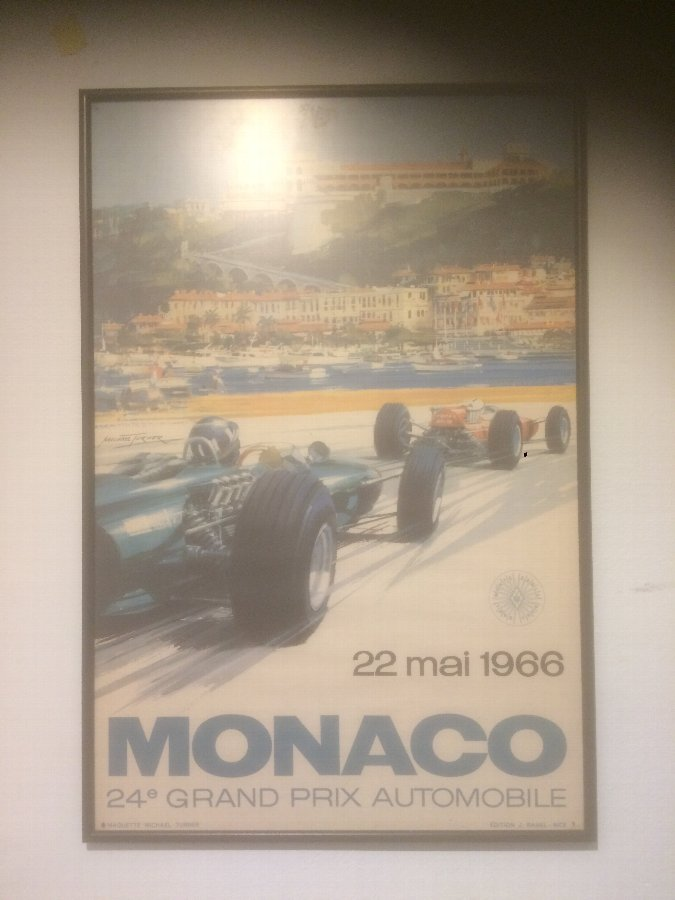 A Original 1966 Monaco Grand Prix Poster Advert  By Michael Turner