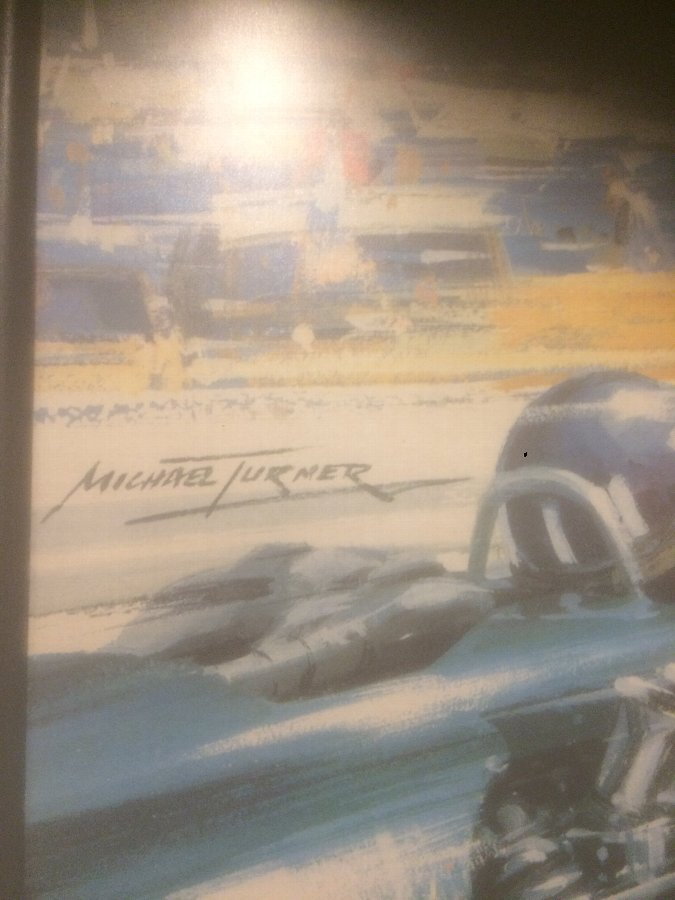 Antique A Original 1966 Monaco Grand Prix Poster Advert  By Michael Turner