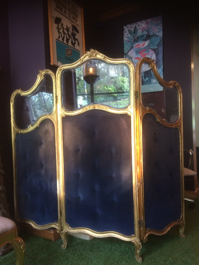 Antique French ladies dressing screen