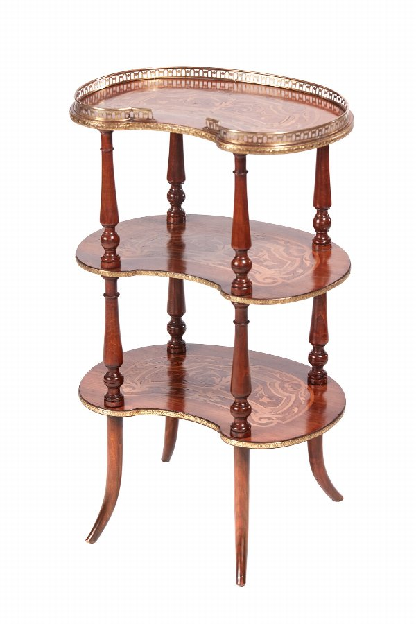 Quality Antique French Marquetry Etagere c.1860