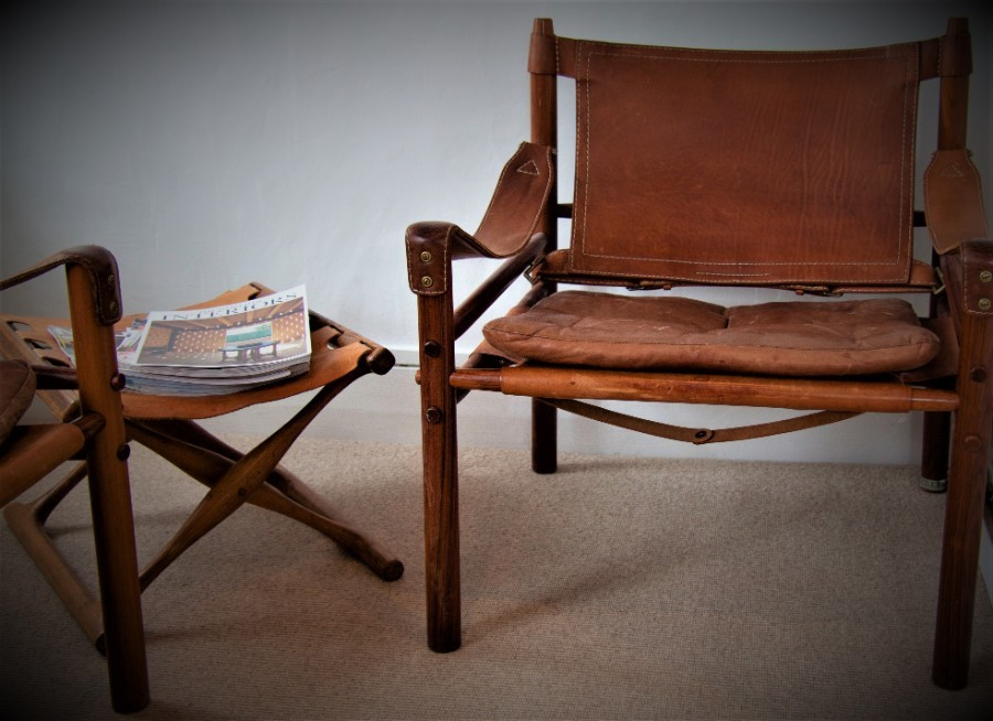 Antique Arne Norell Vintage(1960) Sirocco Easy Chair in Rosewood