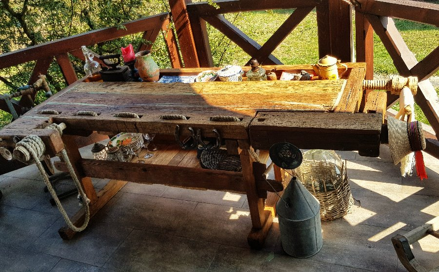Antique carpenter work bench