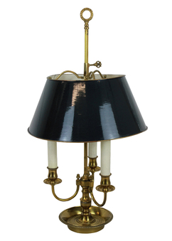 Antique A FRENCH BRASS BOUILLOTTE LAMP