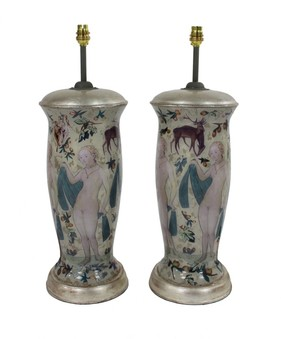 Antique CRANACH INSPIRED DECLAMANIA LAMPS