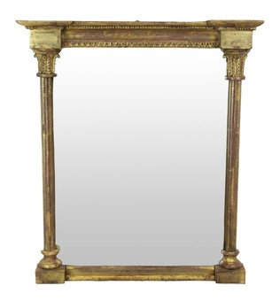 Antique A SMALL REGENCY MIRROR