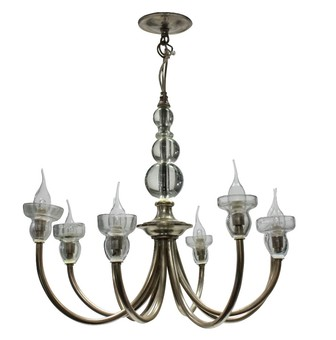 Antique A FRENCH MID-CENTURY SILVER CHANDELIER