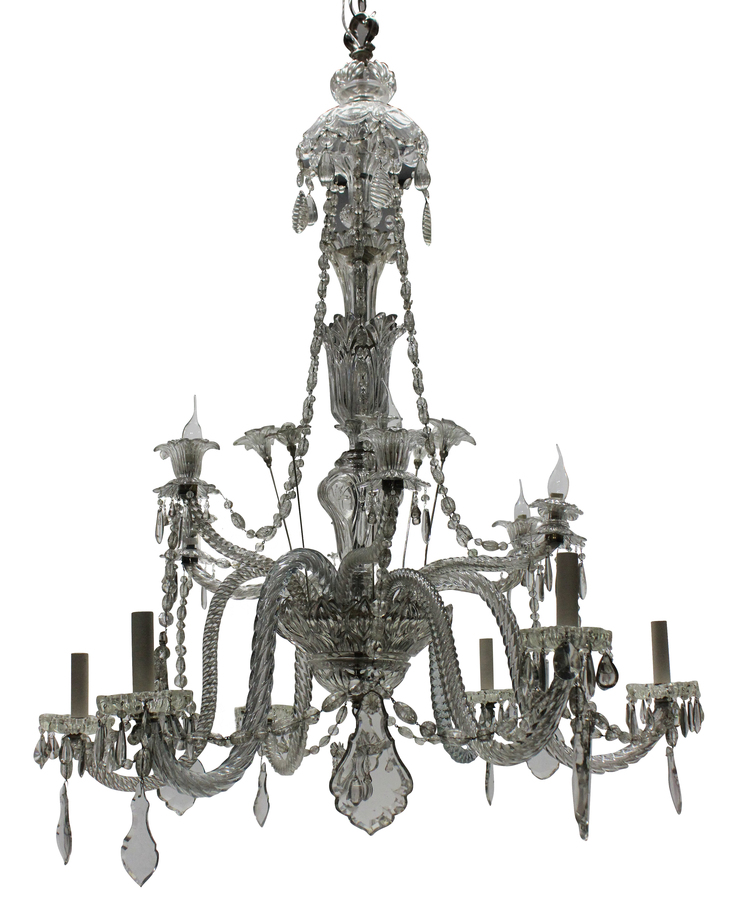A LARGE BACCARAT CHANDELIER