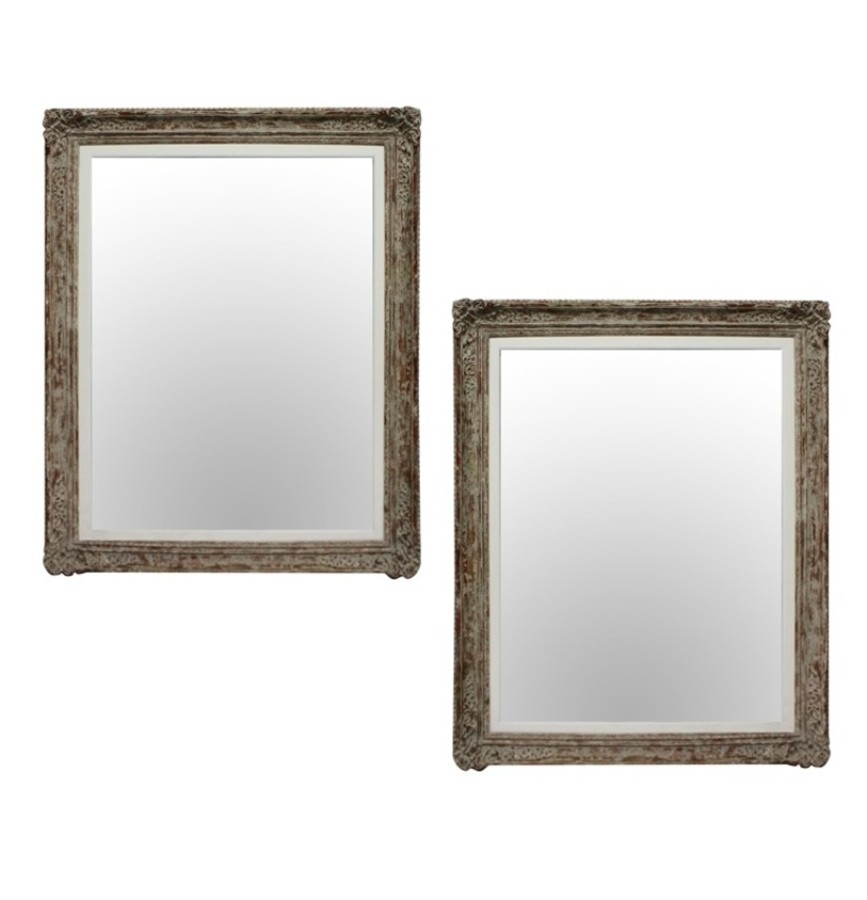 A LARGE PAIR OF MIRRORS