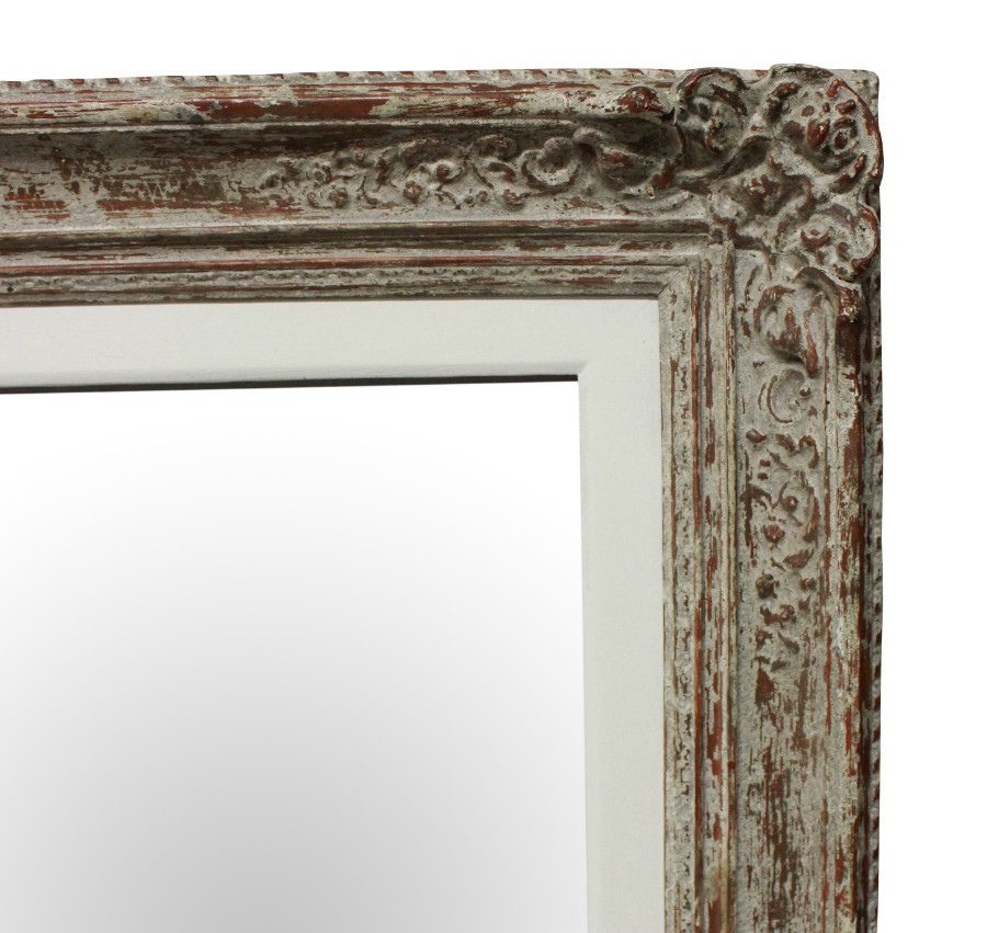 Antique A LARGE PAIR OF MIRRORS