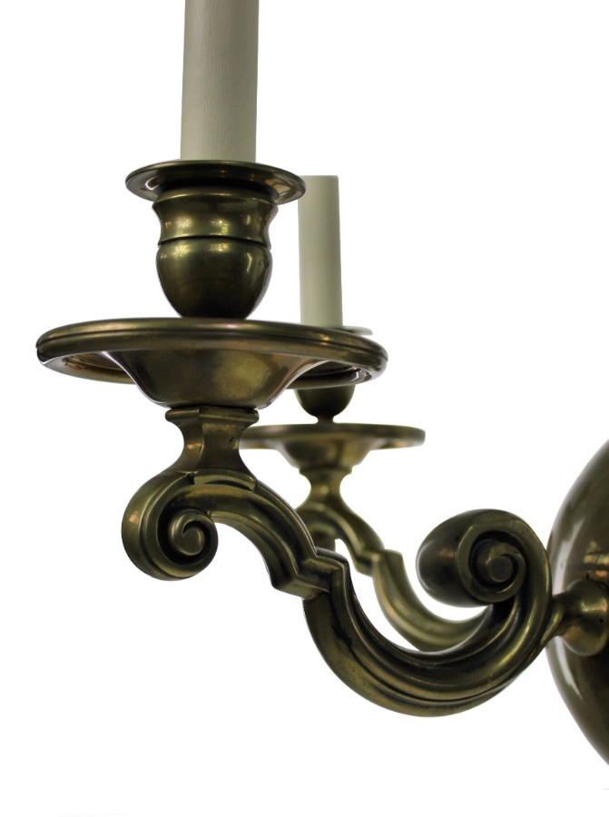 Antique A FLEMISH CHANDELIER IN BRASS