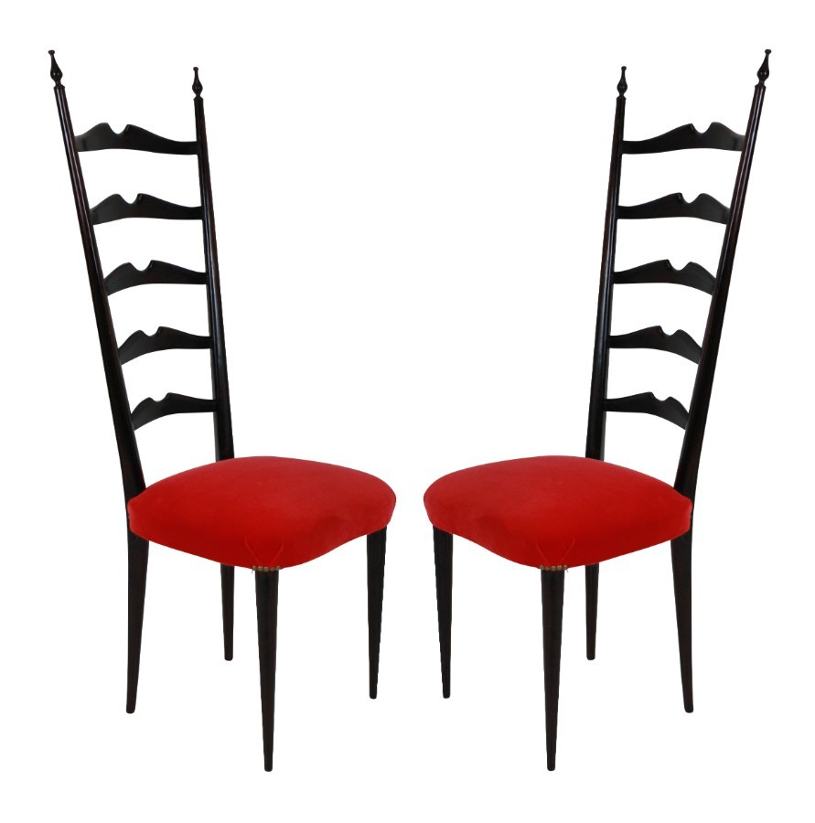 A PAIR OF LADDER BACK PAOLO BUFFA CHAIRS