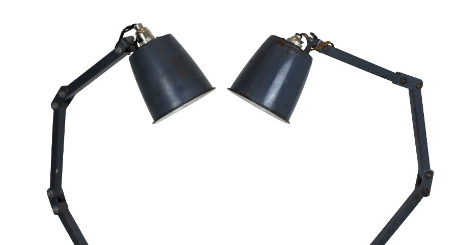 Antique A PAIR OF 50'S ANGLE POISE LAMPS