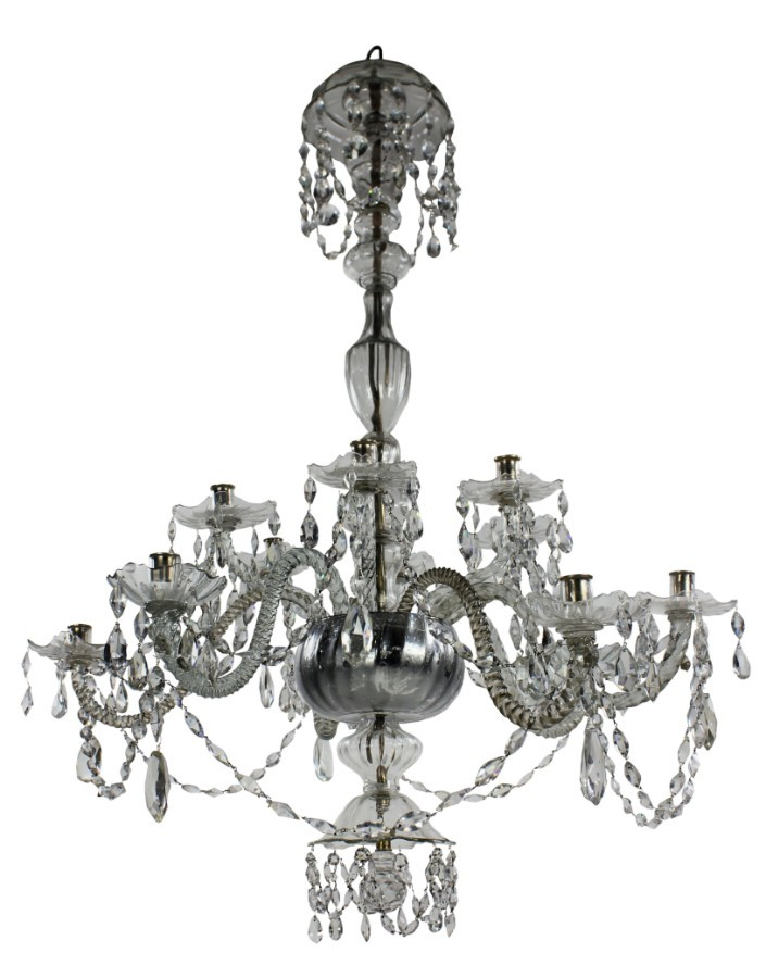 A LARGE EARLY 19TH CENTURY VENETIAN CHANDELIER