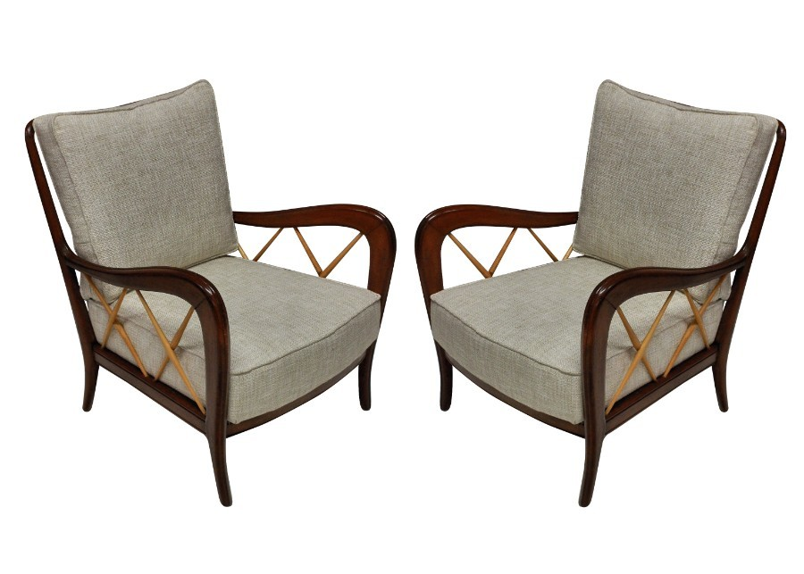 A PAIR OF PAOLO BUFFA LOUNGE CHAIRS