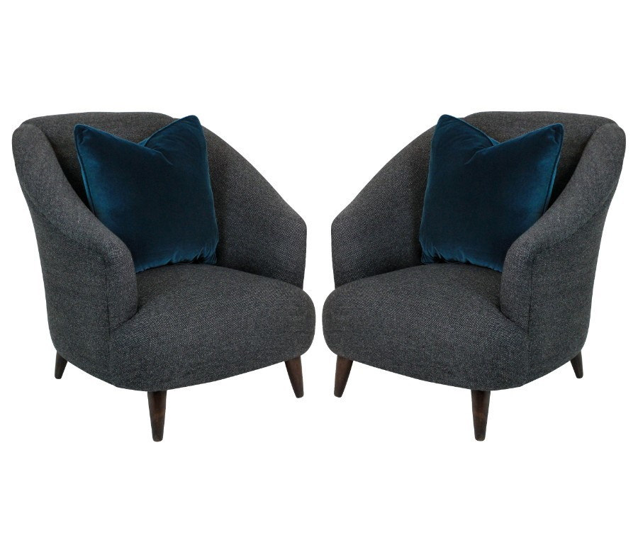 A PAIR OF MIDCENTURY ULRICH LOUNGE CHAIRS