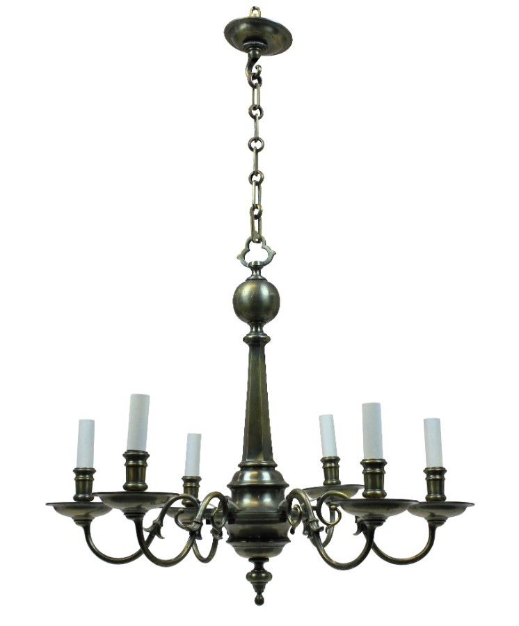 A FRENCH BRONZE GOTHIC CHANDELIER