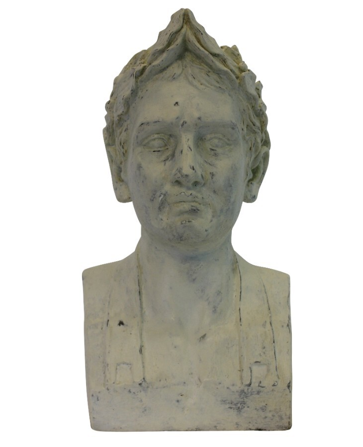 A FRENCH PLASTER HEAD OF NAPOLEON AS EMPEROR