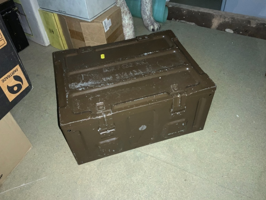 British army Ammunition Box Impressed F632 MK1 1987
