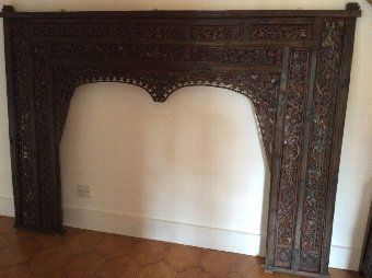 Antique Top section of door frame from Java