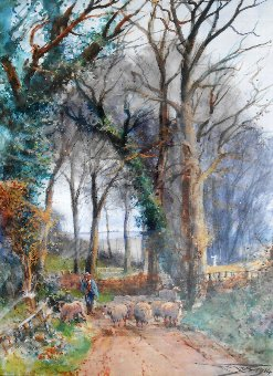 Antique Henry Charles Fox watercolour