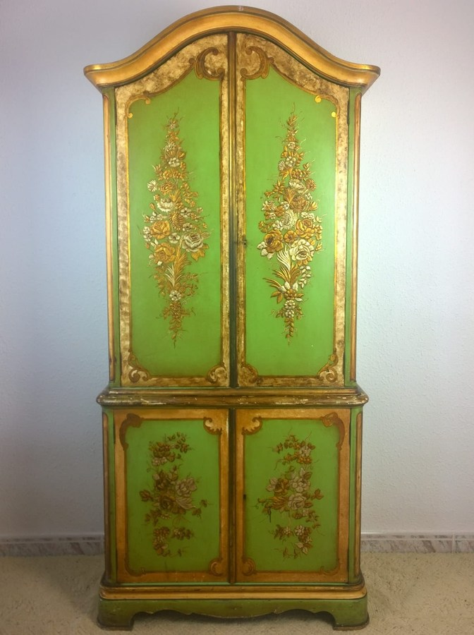 Polychrome Cabinet Bookcase