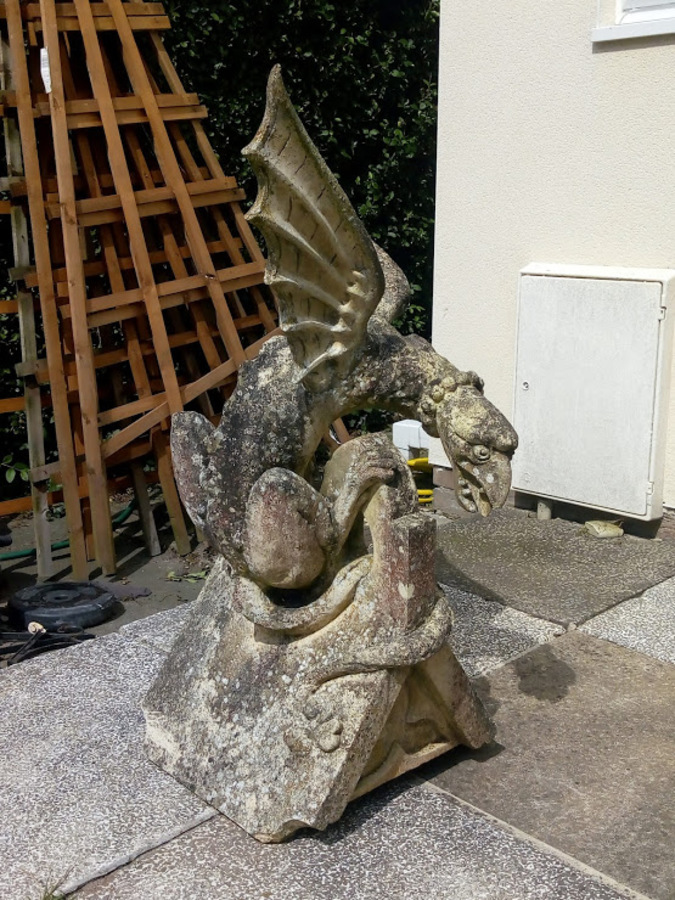 Gibbs & Canning Reclaimed Gothic Griffin Roof Finial or Garden Ornament