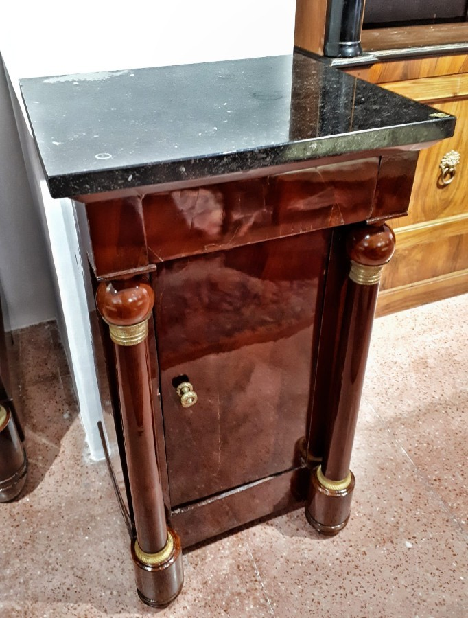 FREE SHIPPING Early 19th Century Empire Side Table Small Locker
