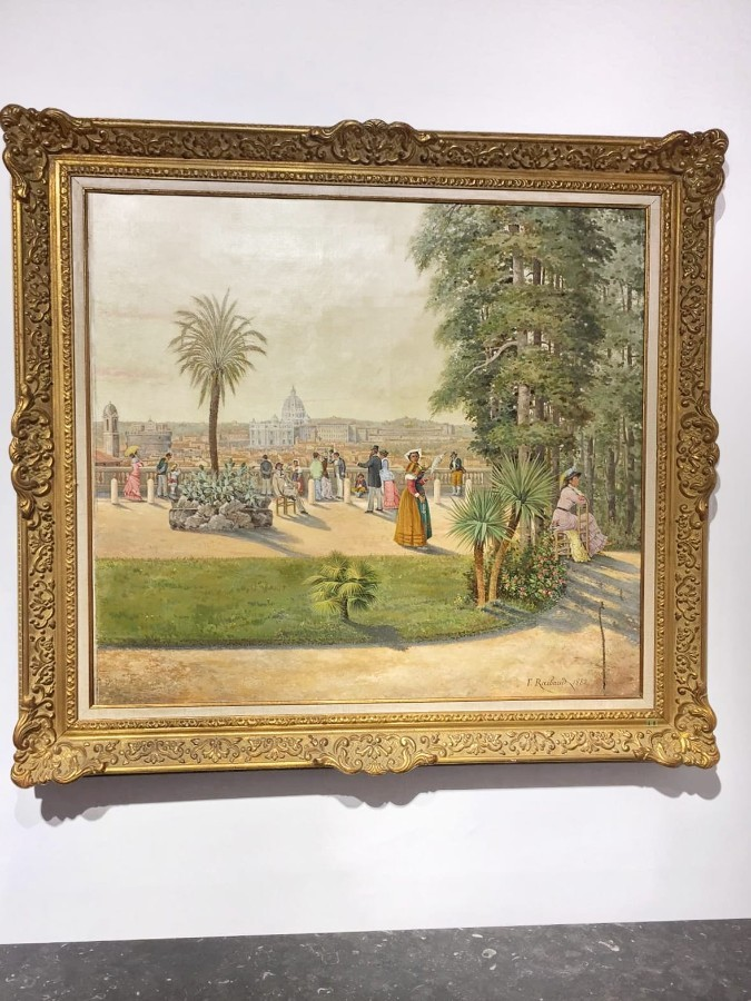FREE SHIPPING 19th Century Oil on Canvas Painting Signed