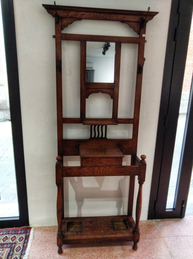 FREE SHIPPING Early 20th Century Art Nouveau Coat Rack or Hall Stand
