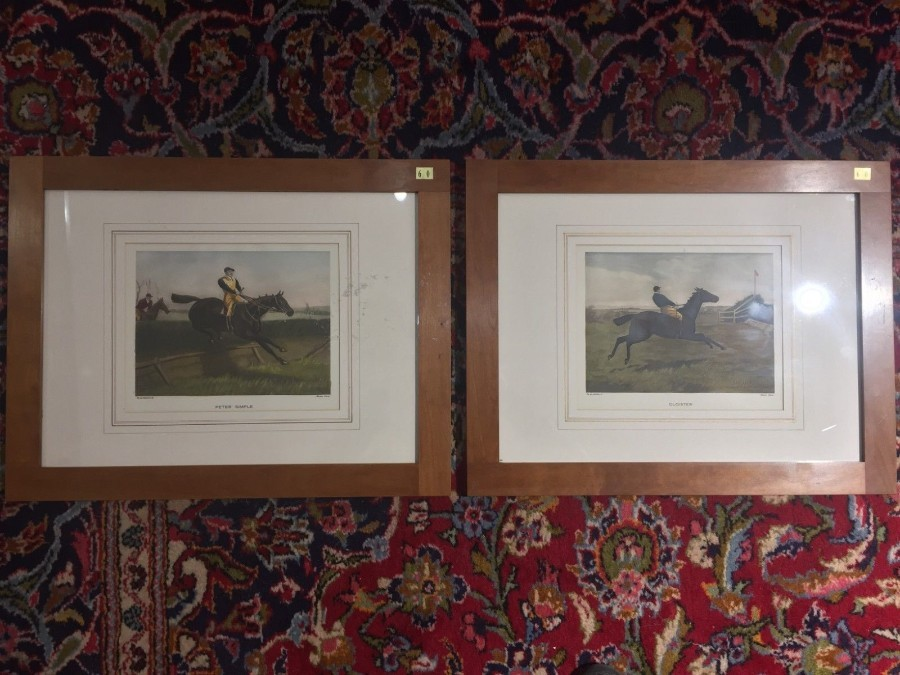 FREE SHIPPING 19th Century Pair of Prints by A C Havell