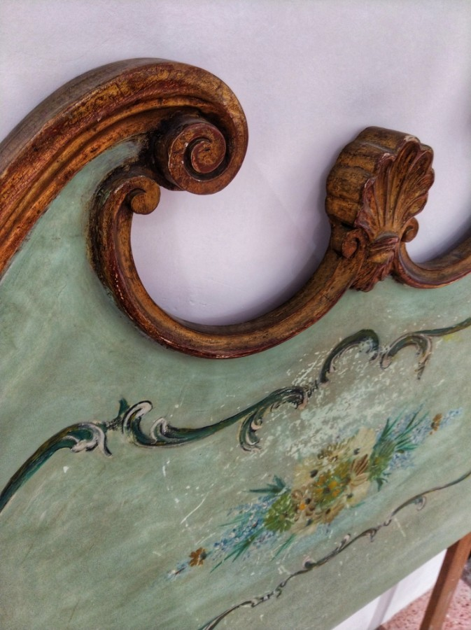 FREE SHIPPING Pair of Early 20th Century Venecian Headboard