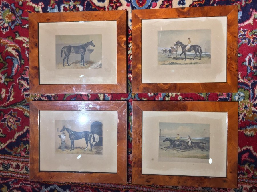 FREE SHIPPING Set of Four 19th Century Prints