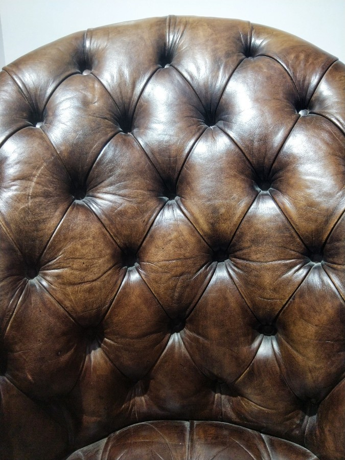 Chesterfield Office Chair Leather 20th Century