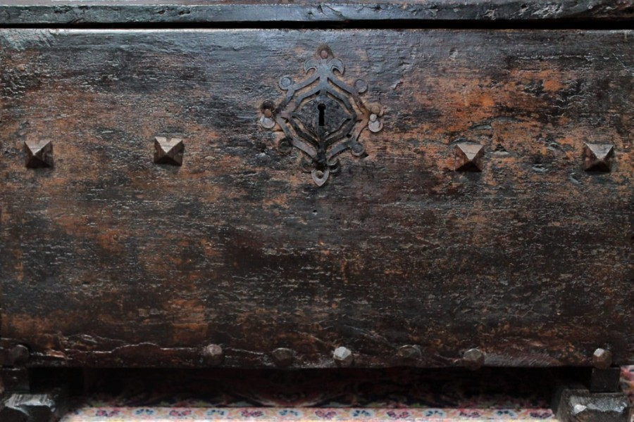 Medieval Spanish Chest Walnut 15th Century