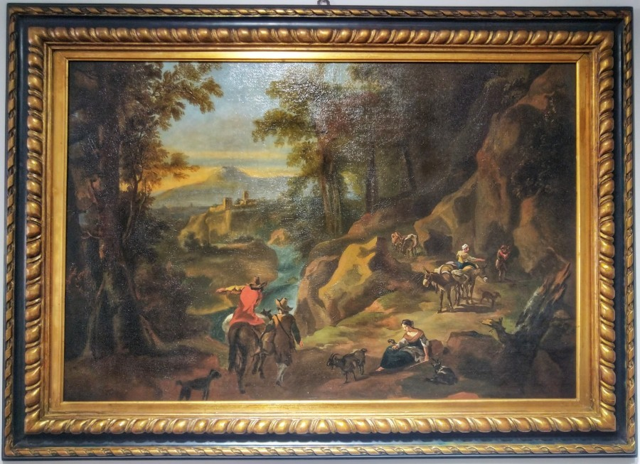 Flemish Painting Grand Tour Sicilian Landscape 18th Century