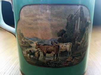 Antique Small Prattware mug.