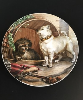 Antique A Minton painted plate.