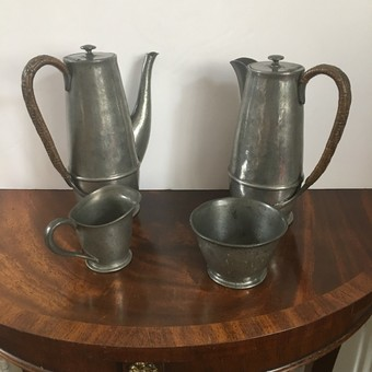 Antique English pewter by Liberty & Co.
