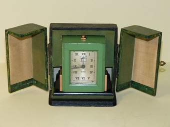 Antique  JAZ – Art Deco Styal Travel table clock.