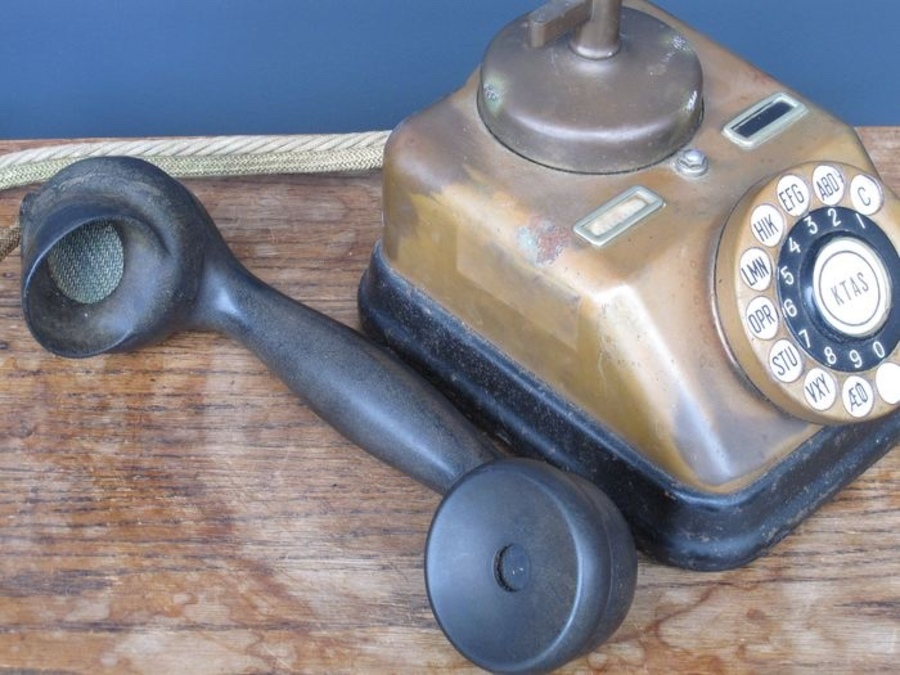 Antique Decorative telephone set of Kobenhavns Telefon Aktieselskab