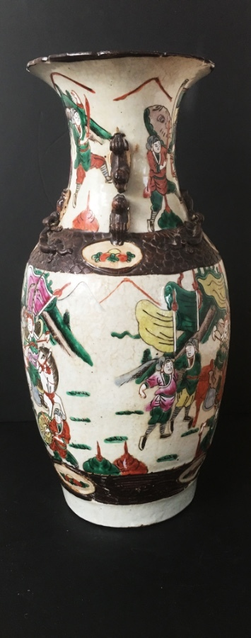 An early 20th century Chinese crackle glaze vase