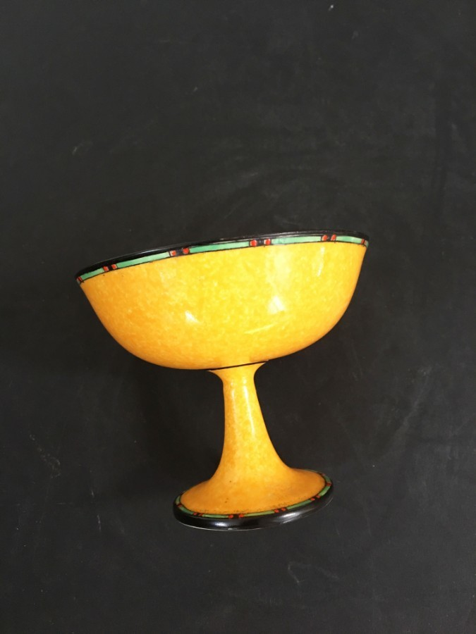 A Royal Worcester Art Deco pedestal bowl.